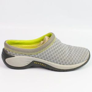 Merrell Drizzle gray yellow mesh moc slip on shoe
